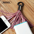 Remax Leather Tassel 8pin to USB Cable Metal Ring Key Chain Charging Data Cord Charger Cables for Apple iPhone 6 6S 5S 5 iPad