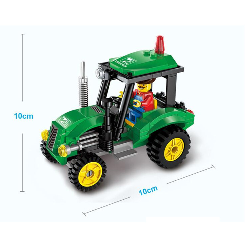 Cool-Tractor-DIY-Building-Blocks-Kit-Toy-Truck-Construction-Bricks-Children-Educational-Toys-Gift-112pcs-Blocks-1
