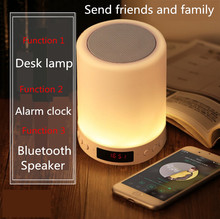 Kuliai night light with bluetooth speaker, portable wireless bluetooth speaker SHAVA touch control color LED night light цена и фото