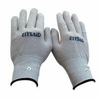 Оптовая продажа 50 пар Проводящих электродов перчатки дышащий Электротерапия массажер десятки физиотерапия аксессуары ручной релаксации