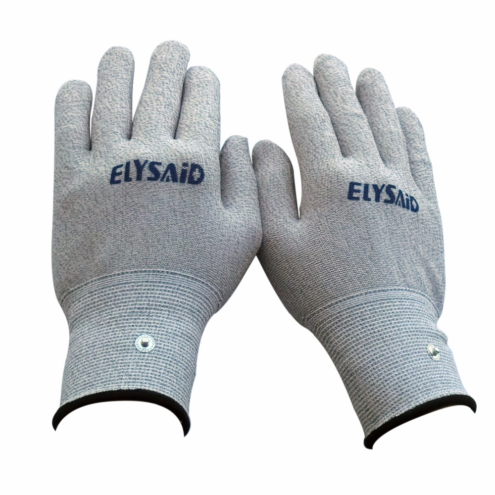 Wholesale 50Pairs Electrode Conductive Gloves Breathable Electrotherapy Massager TENS Physiotherapy Accessories Hand Relaxation 50pairs lot emergency supplies ecg defibrillation electrode patch prompt aed defibrillator trainer accessories not for clinical