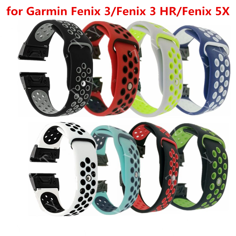 26mm Replacement Watch Band Belt Quick Replacement Fit Band bracelet strap Wristband For Garmin Fenix 3 / Fenix 3 HR / Fenix 5X
