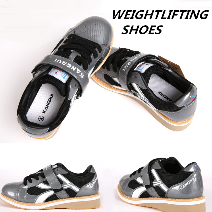2016 Professional Weightlifting Training Leather Slip Resistant Weightlifting Shoes 35-45 training shoes