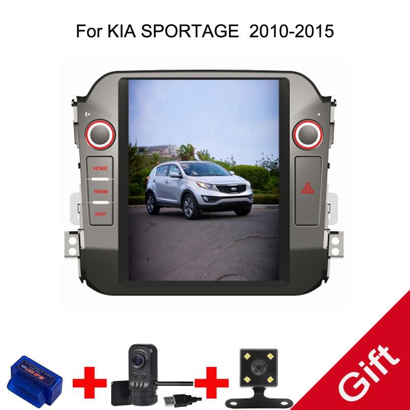 10.4 Tesla Android 7.1/6.0 Fit KIA Sportage 2010 2011 2012 2013 2014 2015 Car DVD Player Navigation GPS Radio