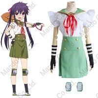Anime Gakkou Gurashi!/ SCHOOL LIVE! Ebisuzawa Kurumi school uniform Cosplay Costumes Halloween women School girl suit
