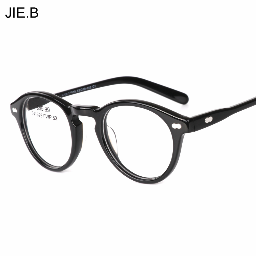 2018 Ronde Acétate Vintage Johnny Depp Lunettes Hommes Femmes Rétro Lunettes  Optique Cadre Lunettes de Prescription Cadre dans Lunettes Cadres de  Vêtements ... 3eec7de99e7d