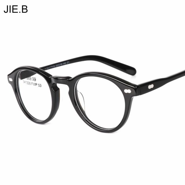 2018 Round Acetate Vintage Johnny Depp Glasses Men Women Retro ...