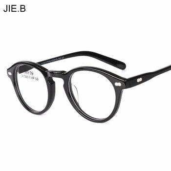 9bd7953dd3 2018 ronda acetato Vintage Johnny Depp gafas hombres mujeres gafas Retro  marco óptico anteojos recetados marco