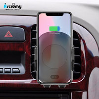 Ascromy Wireless Car Charger Air Vent Automatic Sensor Switch Stand Charging For iPhone 8 Plus X Samsung Galaxy S8 Plus S9 S7 S6