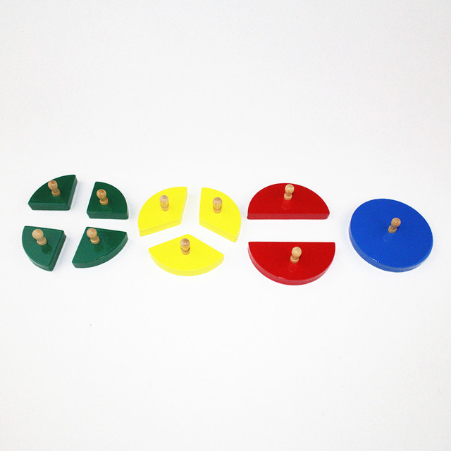 Cut-out Colorful Geometric Fraction Circles
