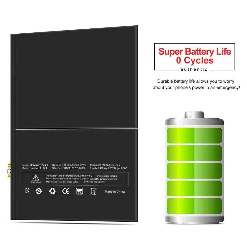 6930mAh Internal Li-ion Battery Replacement For APPLE iPAD 2 A1395 A1396 A1397 / IPAD2