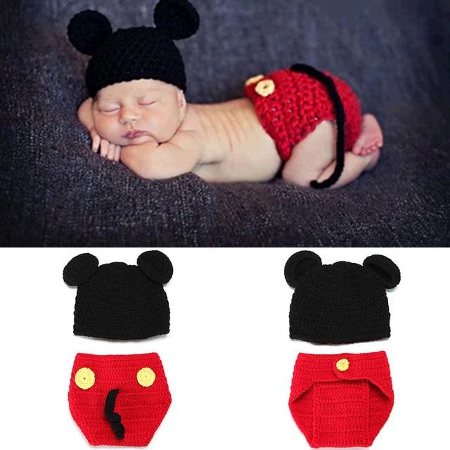 Foto Requisiten Kleidung Set Für Neugeborene Baby Miki Maus Kostüm
