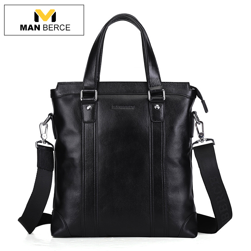 MANBERCE Brand Handbag font b Men b font Messenger Bag Genuine font b Leather b font