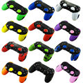 1 PCS Soft Silicone Thicker Half Skin Case Cover + 2 x Thumb Stick Grips for PS4 Playstation Dualshock 4 Pro Slim Controller