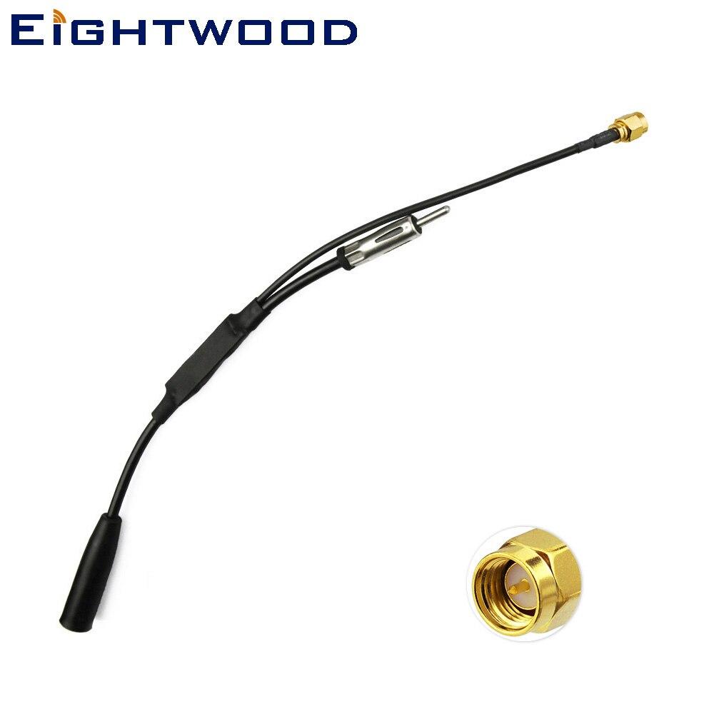 Eightwood Conversion DAB/DAB + radio antenne DAB/FM/AM convertisseur/splitter avec SMA Adaptateur POUR autoDAB