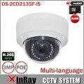 HIK DS-2CD2135F-IS 3MP Câmera IP Suporte H.265 HEVC Slot Para Cartão TF & Two Way Áudio Mini Dome IP POE CCTV câmera