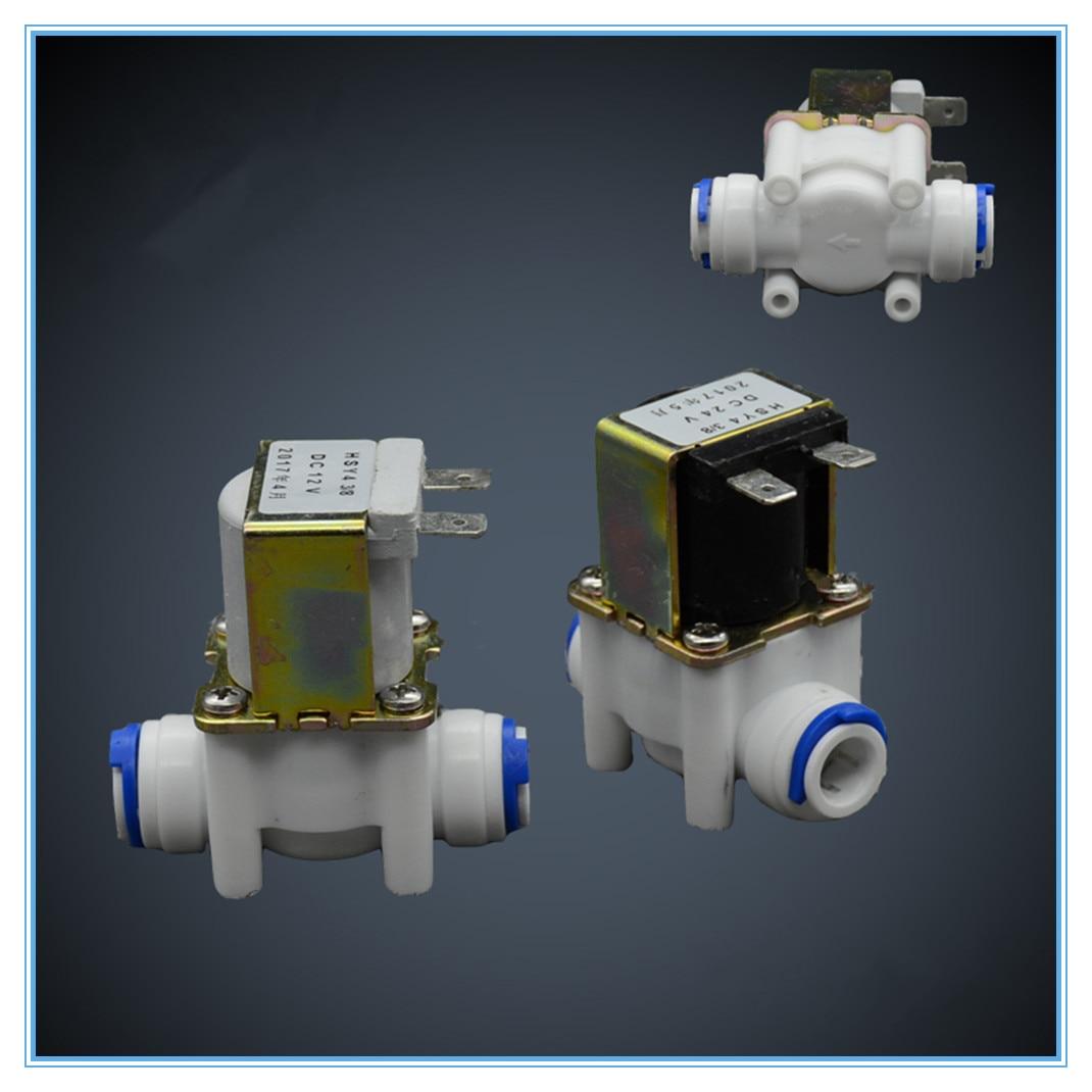 RO Machine, Pipe Machine Plastic Electromagnetic Valve, 3/8 Quick Plug, Water Dispenser Straight Plug Valve