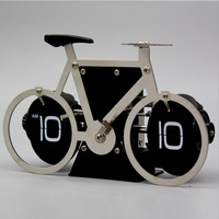 Bicycle Table Clock Flip Down Clock Auto Flap Digital Clocks Retro Flip Clock Vintage Wall Novelty Desk Watch 8 inch