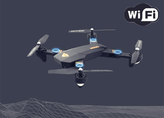 Air Selfie Drone VISUO XS809W XS809HW Elfie Drones With Camera Wifi FPV Altitude Hold RC Helicopter Dron RC Quadcopter VS X5SW-1