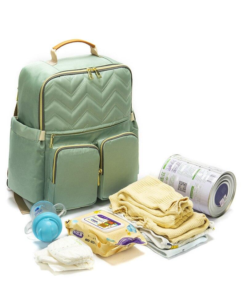 2019 New Baby Diaper Bag Interface Large Capacity Waterproof Nappy Bag Kits Mummy Maternity Travel Backpack Nursing (15)