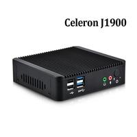 Mini Pc X86 Intel Celeron J1900 Quad Core Dual Lan Mini Desktop Computer Support Windows 7