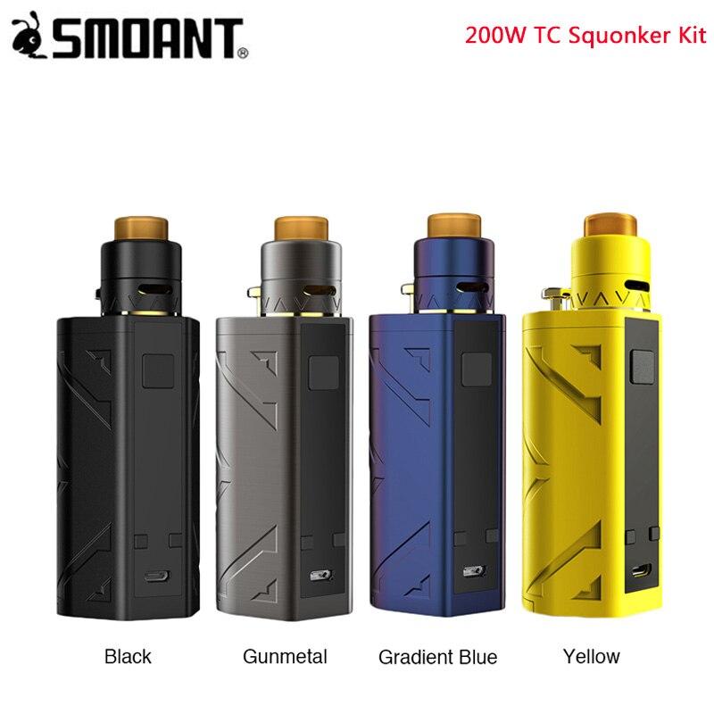Kit de Squonker pour fumeurs 200 W TC boîte de capacité 7 ML mod & Battlestar Squonker RDA par Kits de Cigs électroniques à double Vape 18650