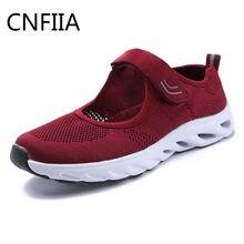 CNFIIA Zapatos mujer Zapatillas calzado deportivo para caminar femeninos  rojo rosa negro malla transpirable para caminar danza 2. c11c1e2873f