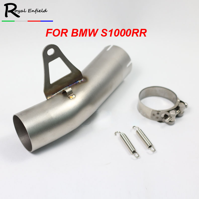 <font><b>S1000R</b></font> Motorcycle <font><b>Exhaust</b></font> Middle Link Pipe Slip On Tube For BMW <font><b>S1000R</b></font> Stainless Steel image