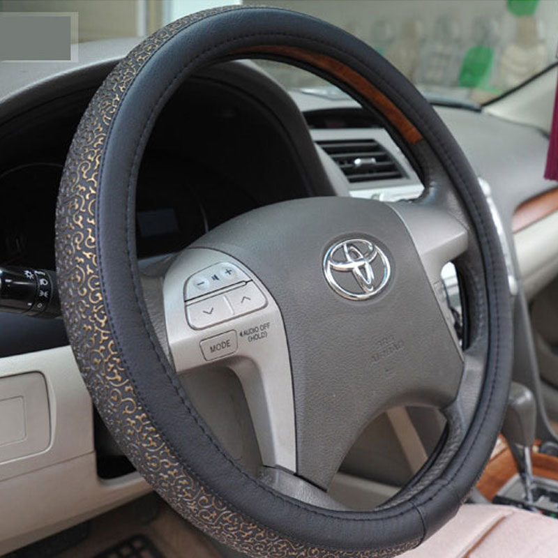 Volante Esportivo Pu Leather Steering Wheel Cover Summer Viscose Carved Car Steering Wheel Cover Auto Supplies Exhaust Pipe