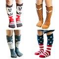 1 Par Pacote de Venda Quente Encantador Dos Desenhos Animados Socks Recém-nascidos Do Bebê Meias de Alta Meias tubo Crianças Meninos Meninas Infantil 0-1 Anos de Meias 20 Projetos