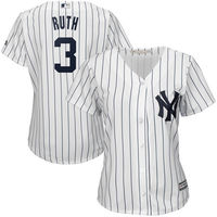 MLB Women S New York Yankees Babe Ruth White Home Cool Base Player Jersey