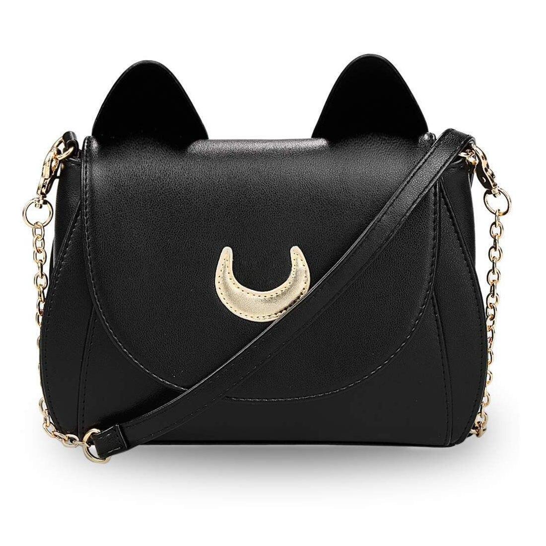 2c57f5b13c 2017 New Summer Limited Sailor Moon Chain Shoulder Bag Ladies Luna Cat PU  Leather Handbag Women