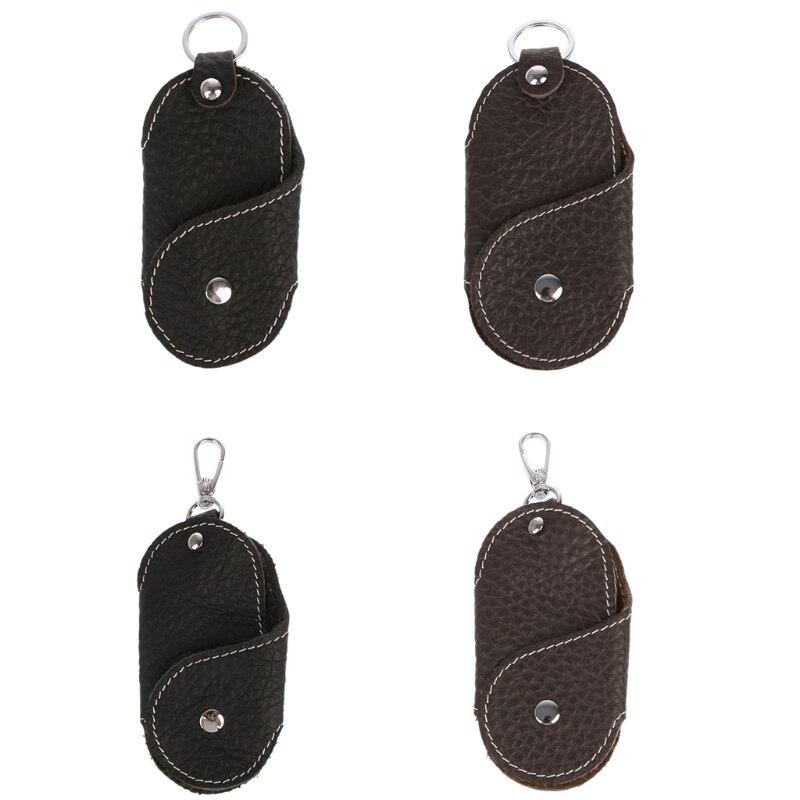 Men Leather Metal Car Keychain Keyring Purse Bag Key Chain Ring Keyfob Fashion