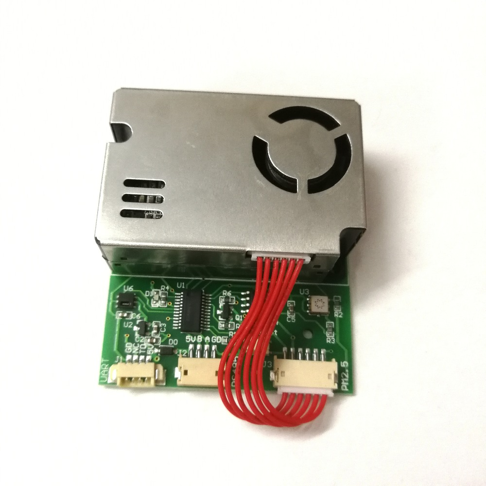 Detection of PM2 5 PM10 Temperature and Humidity C02 Formaldehyde TVOC with 7 in One Sensor