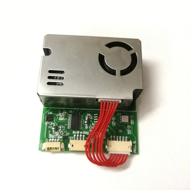 Detection of PM2.5 PM10 Temperature and Humidity C02 Formaldehyde TVOC with 7 in One Sensor Module