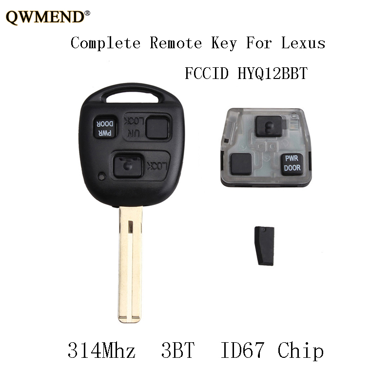 Lexus Rx 2005 2006 Automatic Transmission Speed: QWMEND 314Mhz Car Remote Key Fob For Lexus RX330 2004 2005