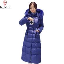 2016 X Long Snow Wear Faux Fur Hood Parkas Winter Jacket Women Thick Warm Cotton Winter Coat Women Casaco Manteau Femme YY251