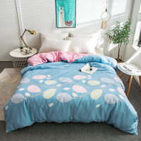 White Leaf Pattern Cotton Soft Two Sided Bedding Single Quilt Cover Bed Comforter Cover Duvet Cover 220x240cm Size Home Textile