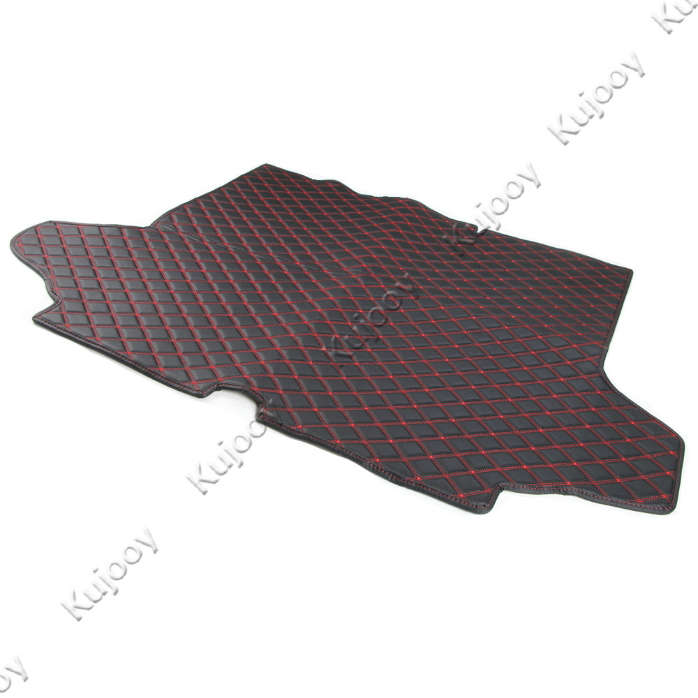 1 pièces tapis de coffre arrière en cuir de voiture protecteur de plancher de cargaison tapis de protection de pied pour Chevy Equinox 2017 + accessoires de style de voiture intérieure - 4
