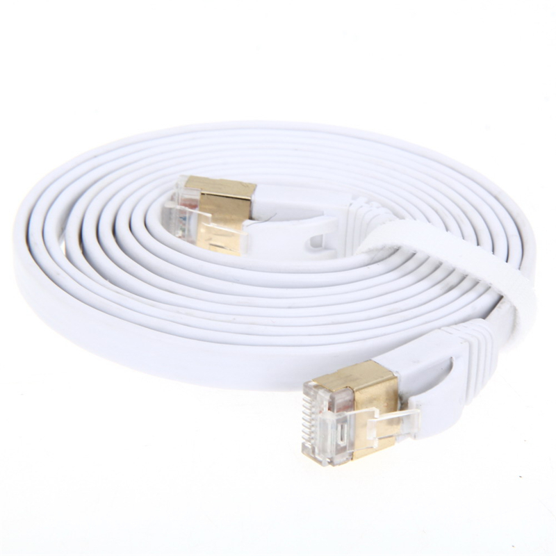 High Speed 2M/3M/5M Aurum Cables Flat CAT7 Flat UTP Ethernet Internet Network Cable RJ45 Patch LAN Cable Connector new original xs7c1a1dbm8 xs7c1a1dbm8c warranty for two year