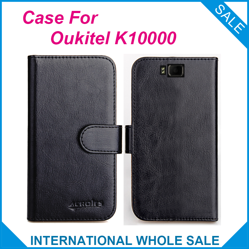 Hot! 2016 K10000 Oukitel Case,6 Colors High Quality Leather Exclusive Case For Oukitel K10000 Cover Phone Tracking