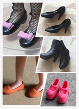 5 Pairs New Arrival Cute Mini 1/6 High-heeled Flats Doll Shoes for Blyth Momoko, Licca, OB, Azone Doll