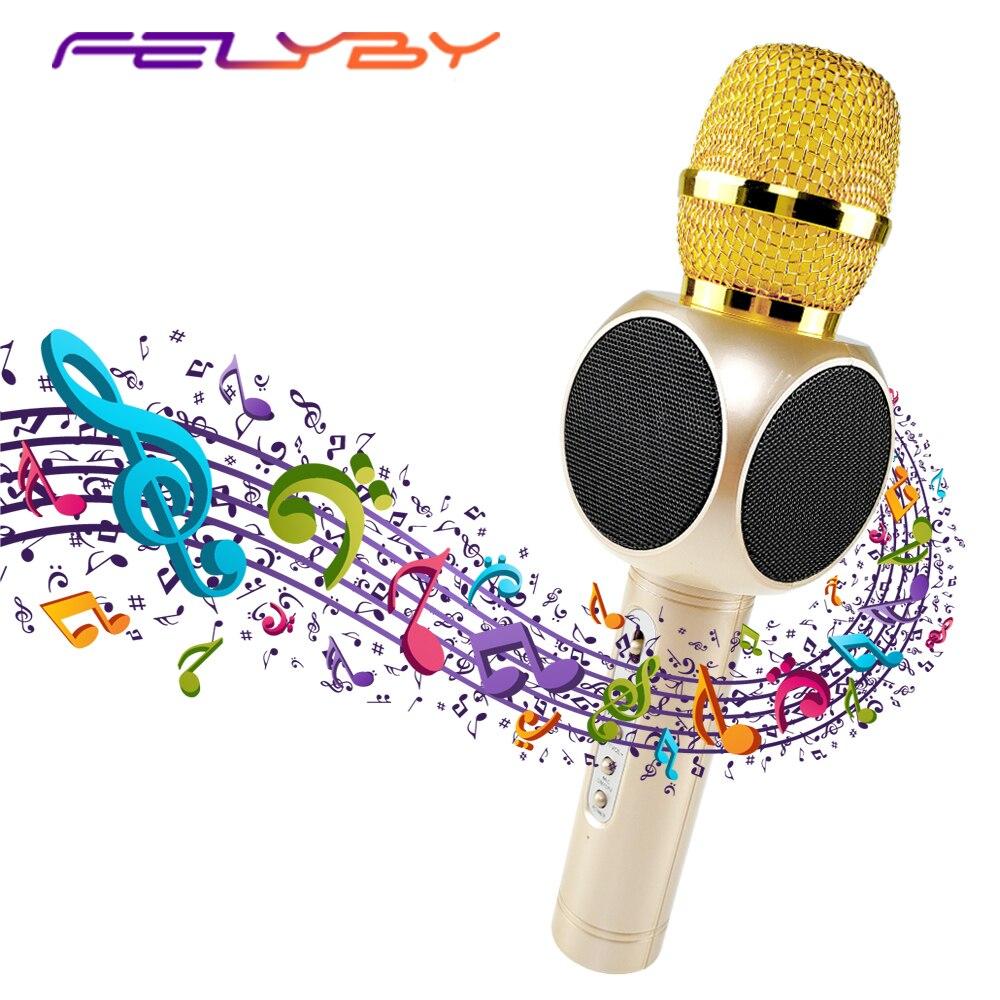 FELYBY E103 micro Portable professionnel sans fil Bluetooth Mini haut-parleur karaoké micro Portable pour la maison KTV avec USB