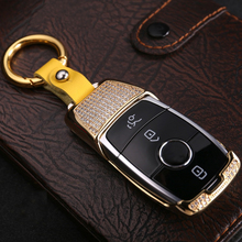 2019 New Luxury Diamond Car Key Case Shell Fob For Mercedes Benz 2017 E Class W213 key Chain Ring Cover Accessories