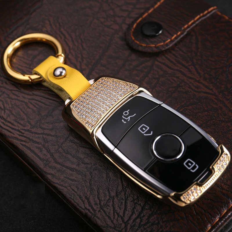 2019 New Luxury Diamond Car Key Case Key Shell Key Fob For Mercedes