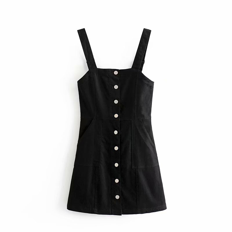 Sexy Strap Dress Cowboy Wild Women 39 s Casual Summer Sleeveless Slim Adjustable Shoulder Strap Dress Fashion Buckle Short Dresses in Dresses from Women 39 s Clothing