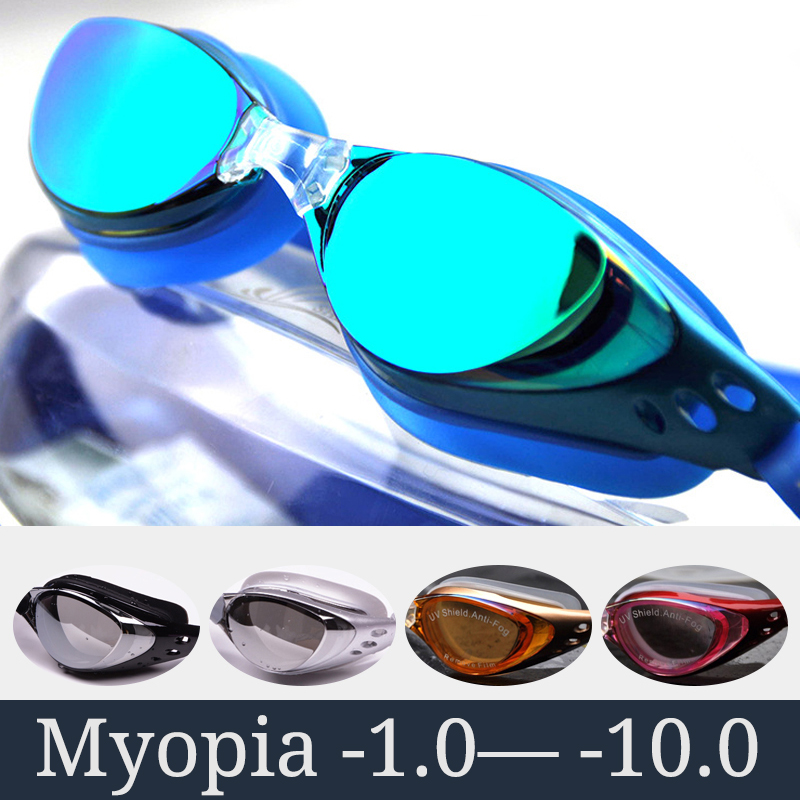 Myopia Swimming Goggles Men Women Prescription Optical Swim Pool Eyewear Anti Fog Professional Swimming Glasses Waterproof Set
