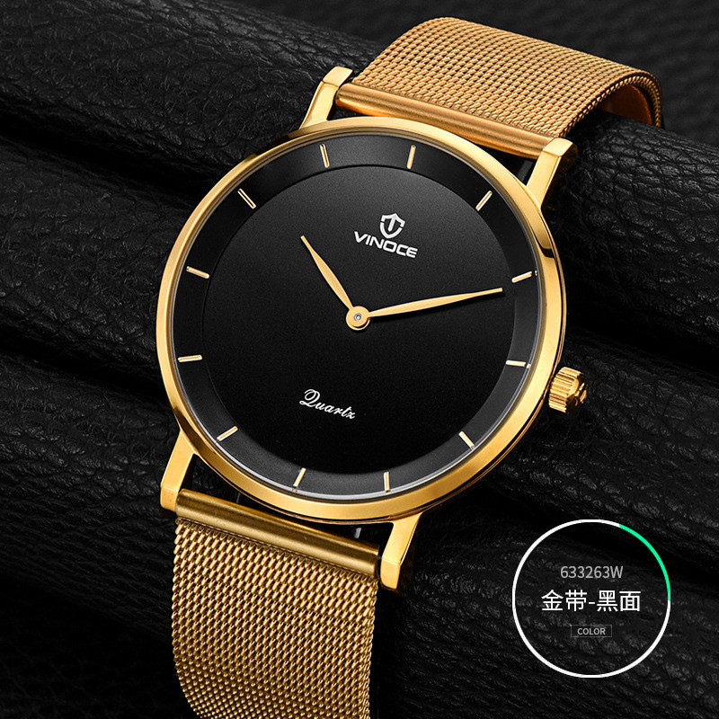 2017 VINOCE Fashion Casual Mens Watches Top Brand Luxury Stainless Steel Business Quartz-Watch Men Wristwatch Relogio Masculino baosaili fashion casual mens watches top brand luxury leather business quartz watch men wristwatch relogio masculino bs1038