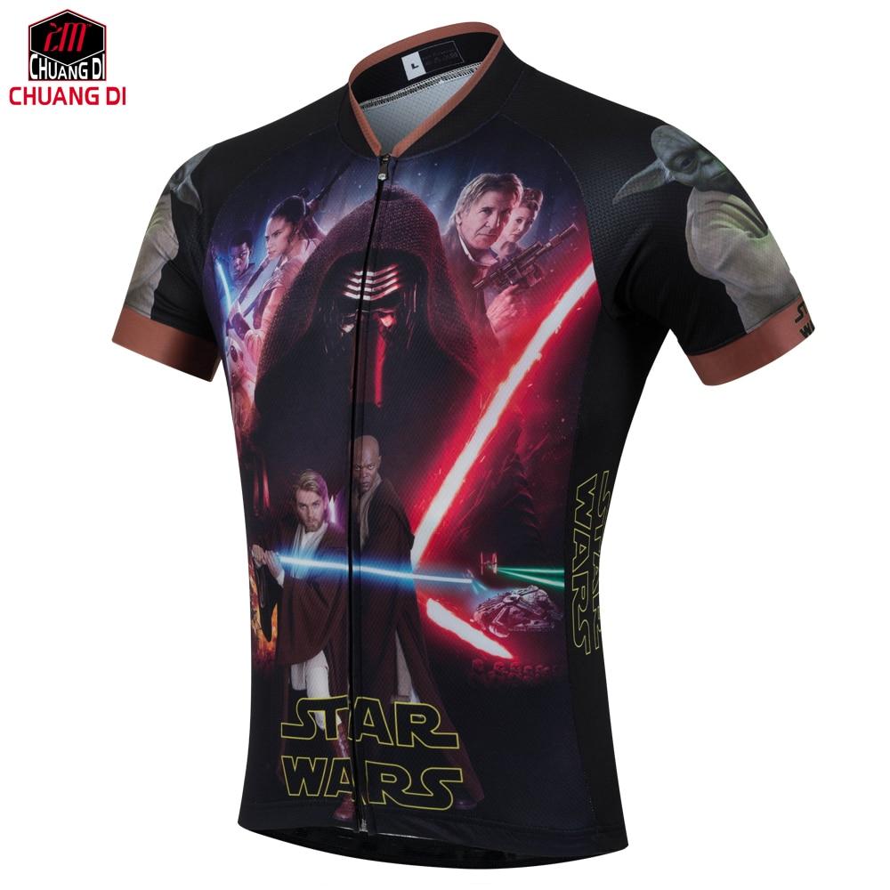 Prix pour Camisetas maillots de Cyclisme Hommes Star Wars maillots de sport Hip Hop Été Nouvelle Manches Courtes maillots Livraison Gratuite