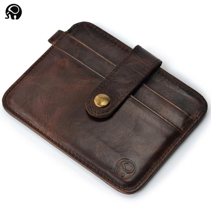 Slim Leather Visiting Cards Men Wallet Business Card Holder Bank ...